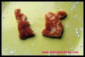Pancakes en forme de lapin, kawaii